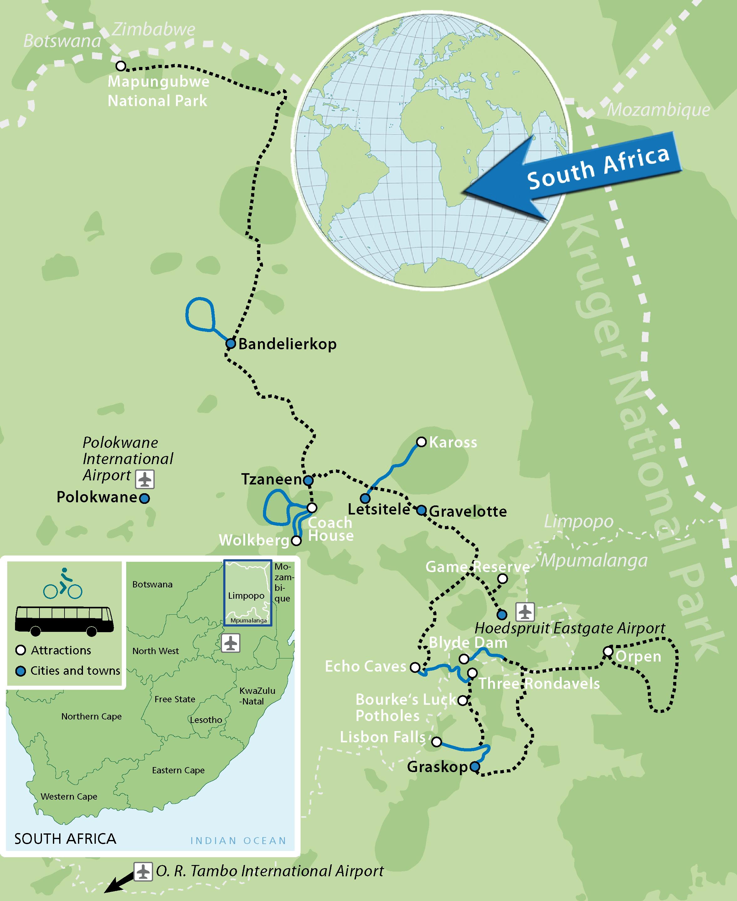 Safari Cycling Panorama Pedals Map