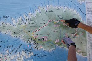 map Hvar