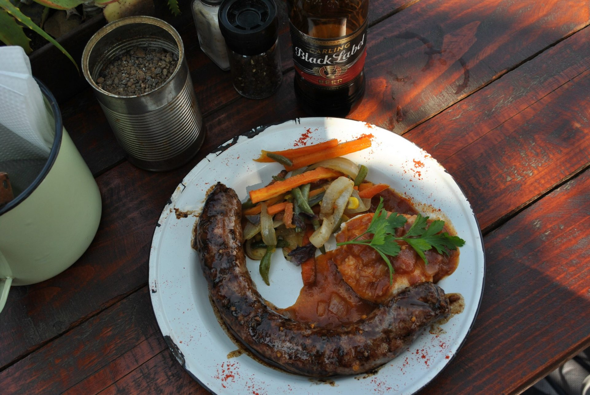 Boerewors and Pap lunch